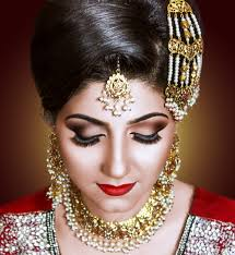 indian stani bridal makeup by meena sadia ms studio toronto artist and hair stylist