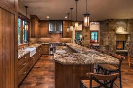 Small Picture Rustic Kitchen with High ceiling Ceramic Tile in Truckee CA