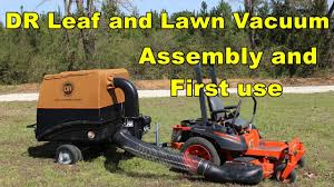 riding mower leaf vacuum. Modren Riding DR Leaf And Lawn Vacuum  Assembly First Use To Riding Mower A