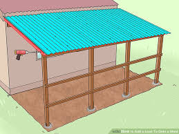 image titled add a lean to onto a shed step 26