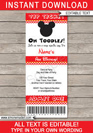 mickey mouse party invitation mickey mouse ticket invitation template red dots