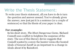 the literary analysis essay using the most dangerous game by  6 write