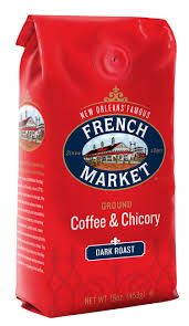 Chicory Coffee French Market Coffee Dark Roast Coffee Chicory 12oz Red Bag