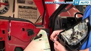 super duty mirror wiring super image wiring diagram how to install replace broken side rear view mirror 99 07 ford on super duty mirror