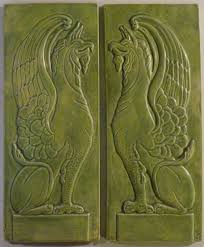 Decorative Relief Tiles Decorative handmade ceramic tile Decorative relief carved ceramic 92