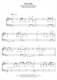 ed sheeran sheet music kiss me piano sheet music by ed sheeran easy piano