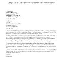 French Language Teacher Cover Letter Sample Teaching English As A Second Language Cover Letter In Elementary