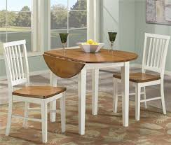 perfect white drop leaf table and chairs with appealing round chocolate black wooden drop leaf kitchen