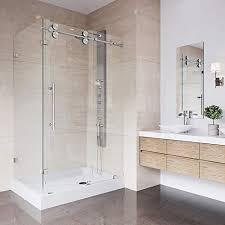 Corner shower stalls Senior Vigo 36 48 Frameless Rectangular Sliding Shower Door Enclosure With Tempered Glass Waterproof Shower Amazoncom Corner Shower Enclosures Amazoncom
