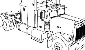 semi truck coloring pages with book pictures peterbilt flowers and hearts se