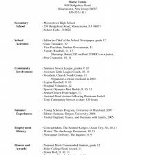 How To Make A High School Resume 24 How To Make A High School Resume For College 24 College 11