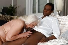 Interracial grannies sucking big dicks
