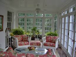 Interior:Beautiful Potted Green Plants And Traditional Furniture Pieces In  French Style Sunroom Captivating White