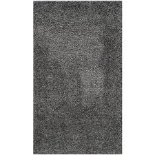 safavieh california shag dark gray rectangular indoor machine made area rug common 4 california shag black 4 ft