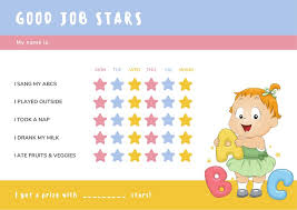 Colorful Alphabet Toddler Reward Chart Templates By Canva