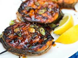 Grilled Salmon Steak Medallions Recipe ...