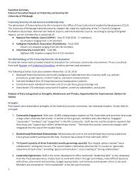 Executive Summary Fraternity And Sorority Life Consultant Report Executive