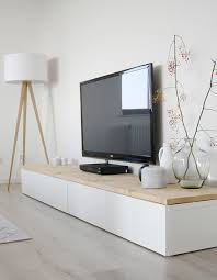 Ikea Besta Tv Meubel Met Houten Blad Decorating Ideas Witte Tv