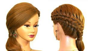 Hair Style For Medium Hair braided hairstyle for medium long hair tutorial youtube 5107 by wearticles.com
