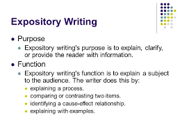 writing an expository essay ppt  expository writing purpose function