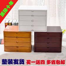 office makeup organizer desktop debris storage box real wooden jewelry storage box small drawer type desk