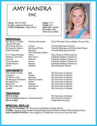 Acting Resume Sample Free - Fax Cover Letter Example Resume Are ...