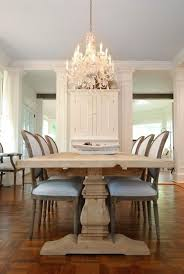 beautiful modern french dining room design with restoration hardware trestle salvaged wood extension dining table vine french round upholstered side