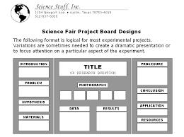 science stuff science fair display board setup
