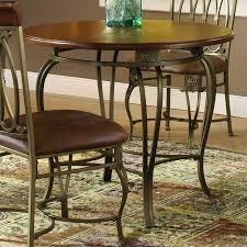 hilale montello 36 inch round casual dining table in brown finish