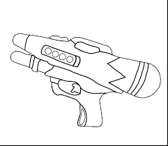 Mega Nerf Gun Coloring Pages Medium Size Of For Adults Printable