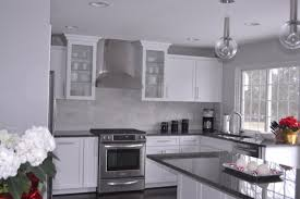 gray granite countertops contemporary kitchen behr