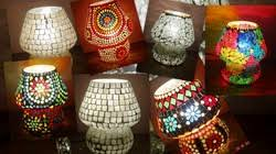 Small Picture Decorative Items Hand Made Glass Lamp Manufacturer from New Delhi