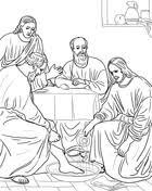 Vrouw Wast Jezus Voeten Met Haar Haren Kleurplaat Gratis