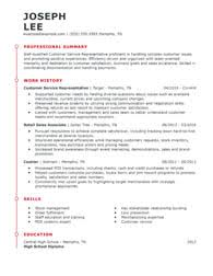 Resume Examples In English For Job Free Online Resume Samples From Myperfectresume Com