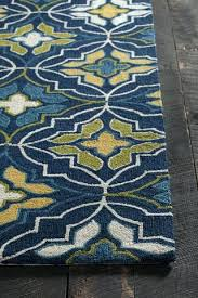 blue green rugs cream collection hand tufted area rug in blue green yellow cream