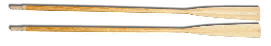 the standard wooden oars
