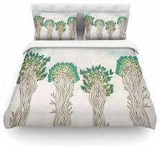 pom graphic design trees white nature duvet cover cotton king contemporary