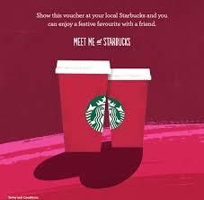 Voucher Code Buy One Starbucks Festive Favorite Get One Free