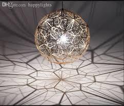 whole geometry tom dixon etch web diamond pendant light lamp home bar decor gold silver led lighting fixture small pendant lights metal