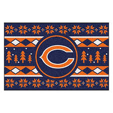officially licensed nfl holiday sweater starter mat chicago bears 9151998 hsn