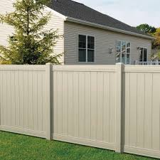 Tan Vinyl Fence Fence Ideas