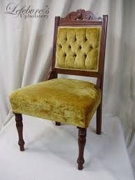 interior lefebvre s upholstery victorian tufted parlor chair denim blue ideal antique chairs 8