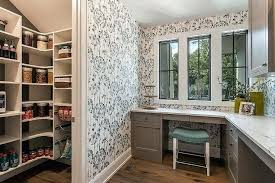 office wallpaper ideas. Home Office Wallpaper Gray Next To Kitchen Pantry Ideas