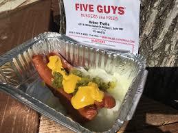 five guys low carb hot dog