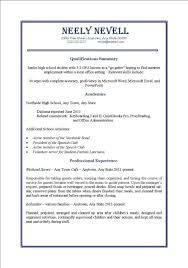 How To Write A Resume First Job How To Write A Resume For Your
