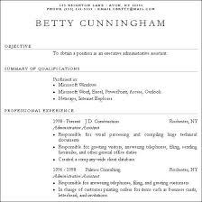 Resume For Little Experience