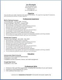 Free Sample Resumes Online