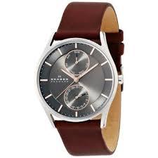 skagen men s watches shop the best deals for 2017 skagen men s skw6086 holst stainless steel dark brown watch