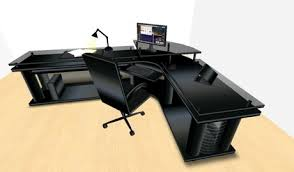 corner office furniture. LED Midnight Black Corner Office Desk (Small Version) Boxed Furniture F