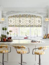 Window Treatment For Kitchen Interior Modern Window Treatments For Kitchens With White Wooden